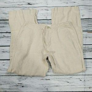 Gap drawstring 100% linen lounge vacation pants 10